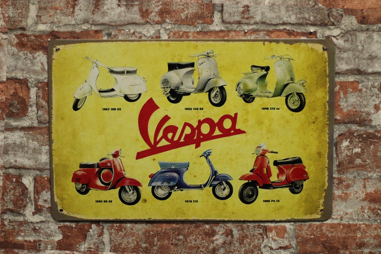 10552 Vespa Scooters 6 stuks – G